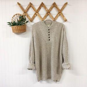 VTG   Eddie Bauer   Henley Style Fisherman Sweater